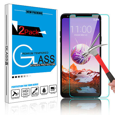 FOR LG STYLO 4 /Stylus 4 Plus Premium Tempered Glass Screen Protector Film  Clear