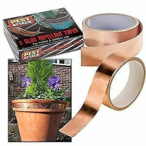 Slug Snail Repellent Self Adhesive Garden Copper Tape -One Roll 1.5M X 25Mm Each
