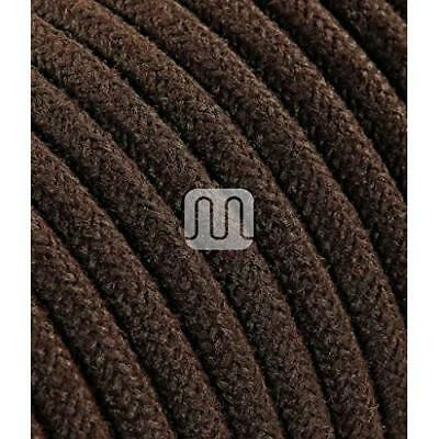 MERLOTTI 20363Electric Cable Round H03VV-F 2x 0.75, Canvas Brown, 3m