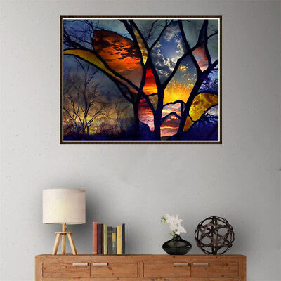 DIY 5D Diamond Painting full drill colorful forest Embroidered Cross Stitch ESCA