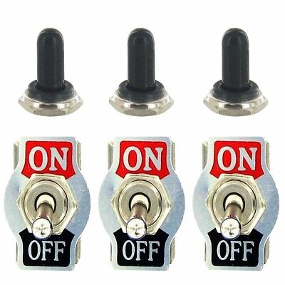 Heavy Duty 20A 125V 15A 250V SPST 2 Terminal Pin ON/OFF Rocker Toggle Switch Met