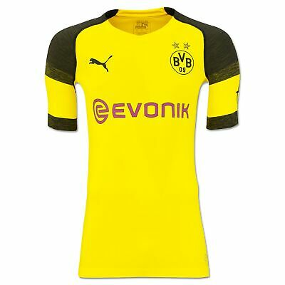 BVB Borussia Dortmund Official Authentic evoKNIT Home Shirt 2018-19 Mens Puma
