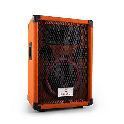 "Pa Lautsprecher 8"" 20Cm Subwoofer 150W Rms Passiv Box Party Dj Speaker Orange"