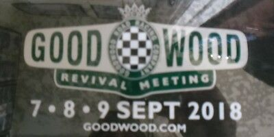 Official 2018 Goodwood Revival Sticker Decal New And Unpeeled