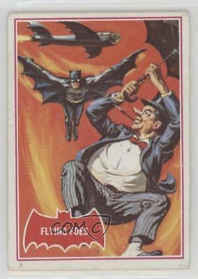 1966 Topps Batman A Series (Red Bat Logo) #31A Flying Foes Non-Sports Card 0s4