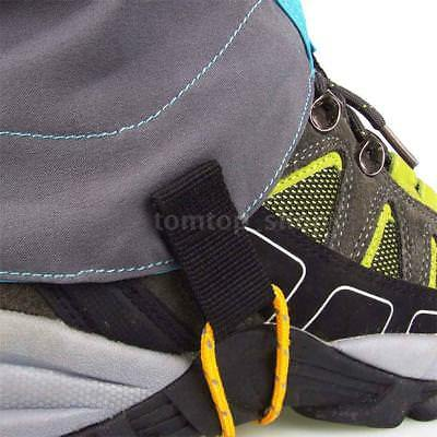 Hiking Silicon Coated Nylon Waterproof Gaiters Leg Protection Guard F5T3