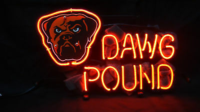 f4a8855c NEW CLEVELAND BROWNS DAWG POUND Beer Lager Wall Decor Light Lamp ...