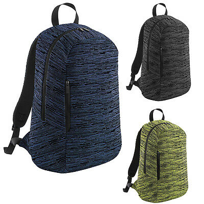 BAGBASE BACKPACK DUO Knit Mens Womens Adults Travel Bag - £15.49 ... dcc5ab45c2cd4