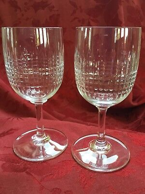 64b1edf6c61c FLAWLESS Exquisite BACCARAT France Pair NANCY Art Crystal CLARET WINE  GLASSES