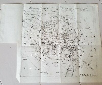 Old Antique 1818 Map Star Planet Constellation Astrology Print Engraving Etching