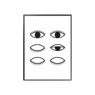 Olle Eksell Cocoa Eyes A4-A1 - Poster - Print  - Illustration