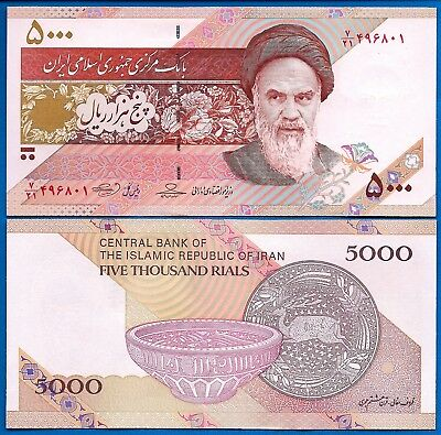Iran P-152 5,000 Rials Year 2013 Khomeini Uncirculated Banknote Asia