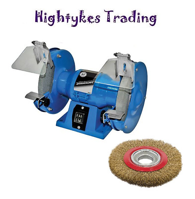 """150mm ELECTRIC BENCH GRINDER 230V 150W  6"""" POLISHING GRINDING WIRE WHEEL BRUSH"""