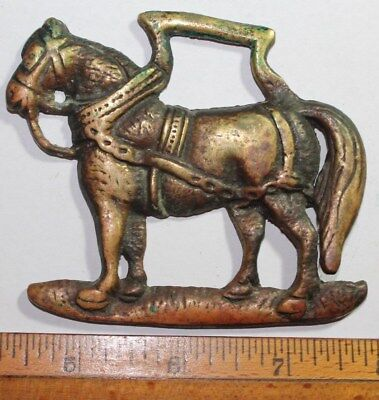 Vintage Horse Brass Draft Horse Equine Martingale Decoration Good Luck