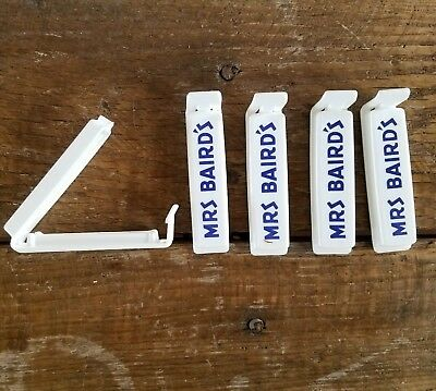 ORIGINAL Mrs Baird's Bread Bag Clips Set of 5 RARE Cool Handy Easy