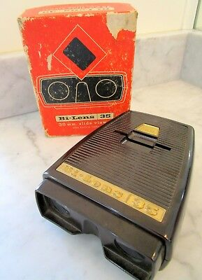 Vintage Bi-Lens 35 mm Slide Viewer w/ Built In Light and Orignal Box by Sawyer's