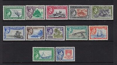 Gilbert And Ellice Kgvi 1939-55 Scott# 40-51 Mint Extra Light Hinged