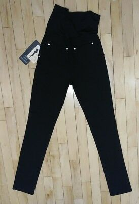 NWT Soho Maternity Black Over Belly Skinny Fit Extra Comfort Legging Pant Size L