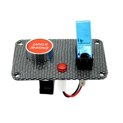 Push Button Start Ignition Switch Panel Blue Cover