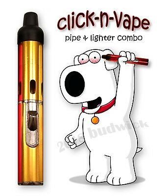 Click-N-Vape - Toke Hit - Sneak-A-Smoke - Pipe & Torch Lighter - USA Seller