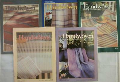 1985 Lot 5 Handwoven Magazines Patterns Warp 5 year index Interweave Press
