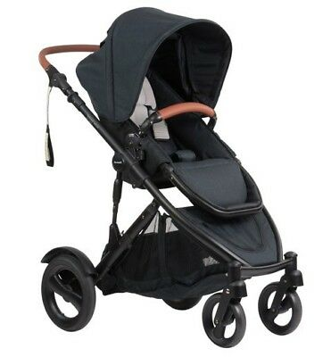 Steelcraft Strider Compact Deluxe Edition Stroller - Black Linen