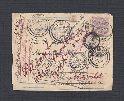 South Africa 1900 Boer War Multiple Redirection Soldier Unknown Military Cover