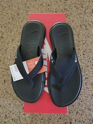 ea14b439bb80 New In Box Womens Nike Ultra Celso Thong Sandals Black White size 6  882698-002