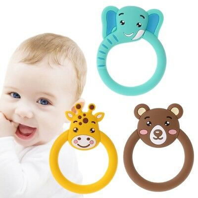 Baby Teether Pacifier Cartoon Teething Silicone Nursing BPA Free Necklace Toys