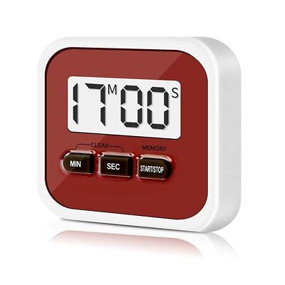 LCD Kitchen Timer Electronic Cooking Timer Stopwatch Cooking Tools Red DE