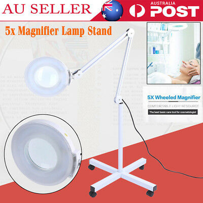 5X Magnifying Lamp Glass Lens Magnifier Round Head on Stand 5D Beauty Salon Spa