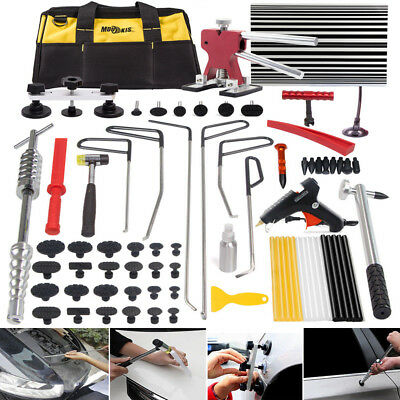 Car Paintless Dent Repair Tool Dint Hail Damage Remover Puller Lifter Rods Kit