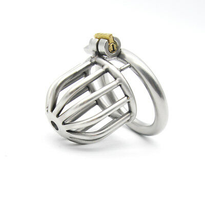 New Lock 304 Stainless Steel Small Cage Male Chastity Device A259