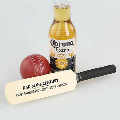 Personalised Printed Fathers Day Wooden Mini Cricket Bat Custom Gift For 1# Dad