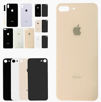 For iPhone 8 Plus 8 X Back Door Battery Cover Housing Glass Rear Case + Adhesive