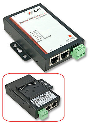 Lindy 5 Port  Industrie-Switch 10/100Mbit/s Schaltschrank Flachmontage 25072