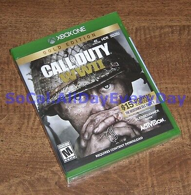 Call of Duty WW2 GOLD Edition (Xbox 1 One) BRAND NEW!!! xb1 CoD WWII World War 2