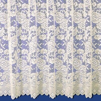 Balmoral Scalloped Net Curtains - Finished In Cream - FREE DELIVERY