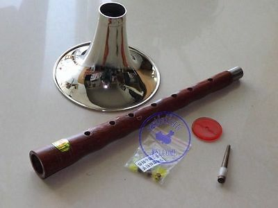 "Profession Rosewood Zurna Suona Trumpet Instrument ""D""Key with 5 Free Reeds"