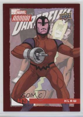 2016 Upper Deck Marvel Annual Red #43 Klaw Non-Sports Card 1md