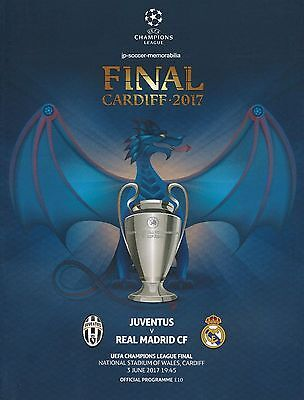 JUVENTUS v REAL MADRID 2017 UEFA CHAMPIONS LEAGUE FINAL OFFICIAL MINT PROGRAMME