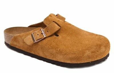 eea35c903bc1 Birkenstock Clogs BOSTON Suede Leather mink regular Soft Footbed NEW