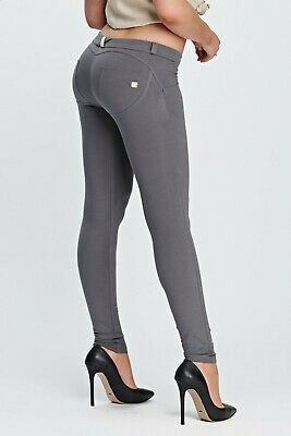 Freddy Wrup® Shaping Effect - Low Waist Pants, Skinny Fit, Stretch Cotton - Grey