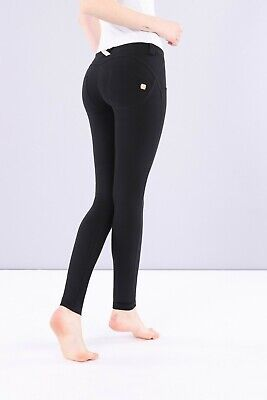 Freddy Wr.up® Shaping Effect - Low Waist Pants, Skinny Fit, Stretch Cotton Black