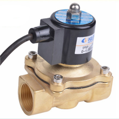 """AC110V G1-1/4"""" Brass Electric Solenoid Valve NC for Water Oil Waterproof IP67"""