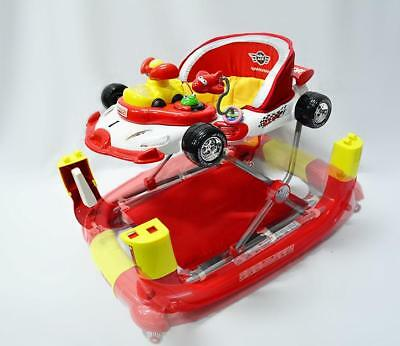 Br New Sturdy Cool Racing Car Baby Walker Rocker 4in1 Activity Play Centre Toys