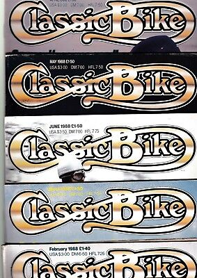 Various Issues of CLASSIC BIKE Magazine from January 1988 to December 1989