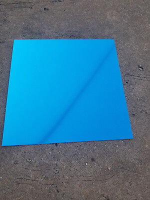 "12"" x 12"" Blue Anodized Aluminum Sheet Metal Plate Double Sided .025"""