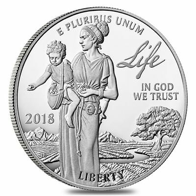 2018-W 1 oz Proof Platinum American Eagle - Life - Preamble to the DOIS