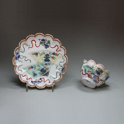 Antique Chinese famille verte teabowl and saucer, Kangxi (1662-1722)